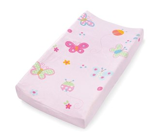 summer ultra plush infant changing pad cover butterfly
