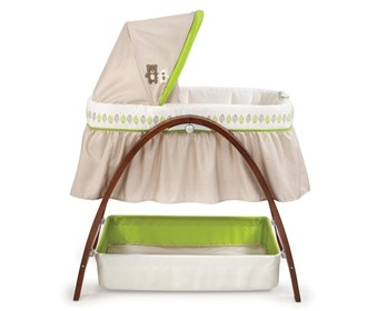 summer infant bentwood bassinet with motion dark stain