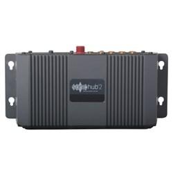 """Product # 000-12302-001 <ul> <li><span class=""""blackbold"""">SonicHub&reg;2 Marine Audio Server</span></li> <li>NMEA 2000&reg; Control</li> <li><span class=""""bluebold"""">Built-in Bluetooth Connectivity</span></li> <li>No Need for External Dongle</li> <li>Dual Stereo AUX Line Input for Audio</li> <li>4 Channel x 50 Watt Speaker Amplifier</li> </ul>"""