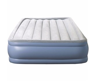 beautyrest queen size hi loft raise express air bed with hands free pump