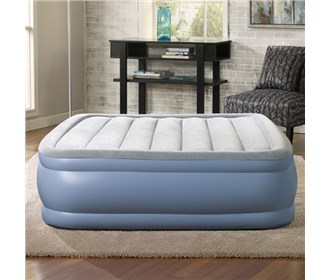 beautyrest queen size plushaire express air bed with hands free pump
