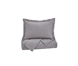 ashley furniture alecio gray quilt set