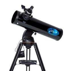 """<br/> <ul> <li><span class=""""redbold"""">5.19 Inch Aperture (139mm)</span></li> <li>Fully coated glass optics</li> <li><span class=""""bluebold"""">307x Maximum Magnification</span></li> <li>Focal Length: 650mm, f/5 Focal Ratio</li> <li><span class=""""blackbold"""">StarPointer Finderscope</span></li> <li>Aluminum Tripod</li> <li><span class=""""redbold"""">Integrated WiFi</span></li> <li>Quick and Easy setup</li> <li><span class=""""greenbold"""">Single Fork Arm Altazimuth Mount</span></li>  <li>Sku: 22203</li> </ul>"""