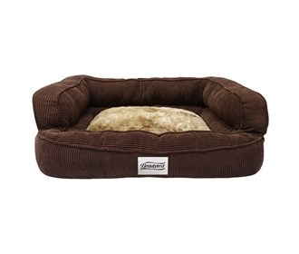 beautyrest colossal rest large corduroy brown pet bed large