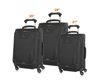 travelpro maxlite 4 3 piece set spinner 21 25 29