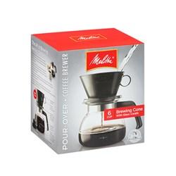 """Item # 640616<br/> Item # 640446<br/> <ul> <li><span class=""""blackbold"""">Pour Over Coffeemaker</span></li> <li>Glass Carafe<br/> - 640616 Model: 52oz<br/> - 640446 Model: 32oz</li> <li>Plastic Top <br/>- For Keeping Debris Out &amp; Contents Warm</li> <li>Paper Filters<br/> - 640616 Model Uses Number 6 Paper Filters<br/> - 640446 Model Uses Number 4 Paper Filters</li> <li>Easy To Use Drip-Style Pot</li> <li>Dishwasher Safe</li> <li>BPA Free</li> </ul>"""