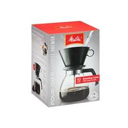 """Item # 640616<br/> <ul> <li><span class=""""blackbold"""">Pour Over Coffeemaker</span></li> <li>52oz Glass Carafe</li> <li><span class=""""bluebold"""">Brews 10 Cups of Coffee</span></li> <li>Plastic Top</li> <li>Uses Number 6 Paper Filters</li> <li>Easy To Use Drip-Style Pot</li> </ul>"""