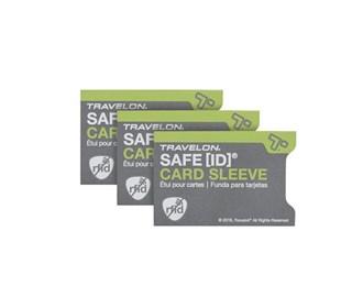 travelon safe id set of 3 rfid blocking sleeves