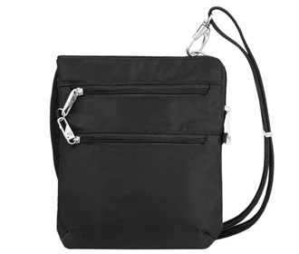 Travelon Anti Theft Classic Slim Double Zip Crossbody Bag