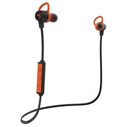 """<ul> <li><span class=""""blackbold"""">Wireless Stereo Earbuds</span></li> <li>IP57 Water & Sweatproof</li> <li><span class=""""bluebold"""">Play Time:</span> <span class=""""redbold"""">Up to 9.5 Hours</span></li> <li><span class=""""bluebold"""">Bluetooth Range:</span> Up to 150 Feet</li> <li>Super Light with <span class=""""bluebold"""">HD Sound</span></li> <li>Siri & Google Now Compatible</li> <li>Integrated Mic for Calls</li> </ul>"""