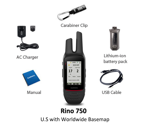 garmin rino 750 us with worldwide basemap