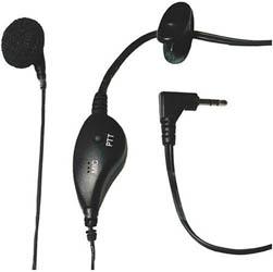 <ul> <li>Earbud Speaker w/ PTT Microphone <li>Provides Hands-Free Communication </ul>