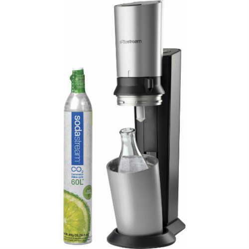sodastream crystal starter kit black silver