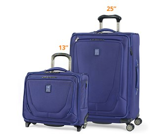 travelpro crew11 25 spinner rolling tote indigo