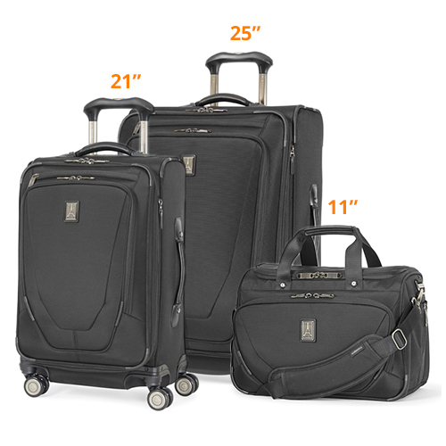 travelpro crew11 21 25 spinner deluxe tote black