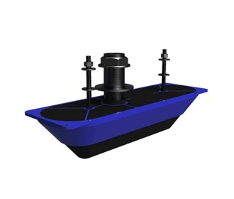 Lowrance StructureScan 3D Stainless Steel Thru Hull Transducer   Single