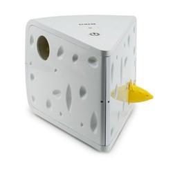 """<ul> <li><span class=""""blackbold"""">Cheese Cat Toy</span></li> <li>Two Mice Play Peek-a-Boo</li> <li><span class=""""bluebold"""">You Are Away Mode</span></li> <li>Auto Turn-Off Timer  </li> <li>Requires 3 AA Batteries</li> </ul>"""