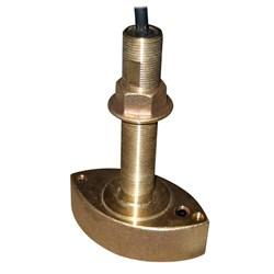 """Product # 525T-BSD <ul> <li><span class=""""blackbold"""">Through Hull Transducer</span></li> <li>Power 600 Watts</li> <li>Frequency 50/200 kHz </li> <li>Bronze Thru-Hull w/ Temperature</li> </ul>"""