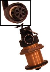 """Product # ST-02MSB <ul> <li><span class=""""blackbold"""">Bronze Thru-Hull Speed &amp; Temp Sensor</span></li> <li>6-Pin Connector</li>    <li>9-Meter Cable</li>  </ul>"""