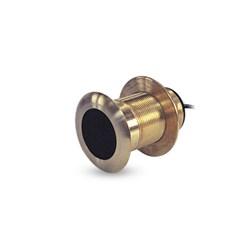 """Product # 520-BLD <ul> <li><span class=""""blackbold"""">Through Hull Transducer</span></li> <li>Power 600 Watts</li> <li>Beam Angles 45 / 15&deg;</li> </ul>"""
