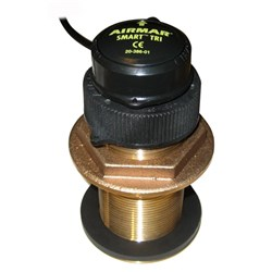 "Product # 235DST-MSE <ul> <li><span class=""blackbold"">Bronze Through Hull Transducer</span></li> <li><span class=""bluebold"">200 Watts Power</span></li> <li>Frequency 235kHz</li> <li>Provides Depth, Speed &amp; Temp</li> <li>Flush Mounted on a Hull w/ up to a 22&deg; Deadrise </li> </ul>"