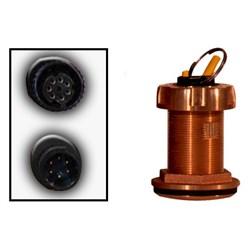 """Product # 235-DT-MSE <ul> <li><span class=""""blackbold"""">Bronze Through Hull Transducer</span></li> <li>200 Watts Power</li> <li>Frequency 235kHz</li> <li>Provides Depth &amp; Temp</li> </ul>"""