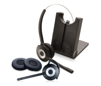 jabra gn netcom pro 935 sc with spare pro900 mono and 2 ear cushions