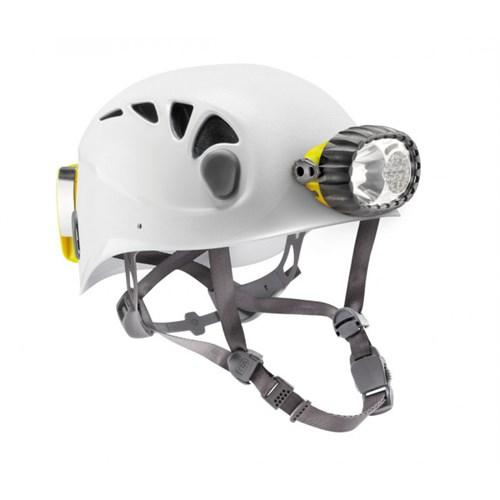 caving helmet with hybrid lighting