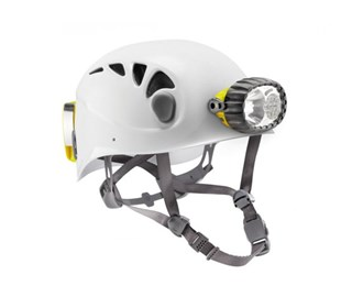 caving helmet with hybrid lighting