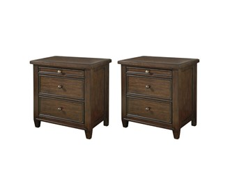 Hindell Park Coffee Table.Signature Design By Ashley Hindell Park Three Drawer Night Stand