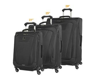 travelpro maxlite 4 3 piece set spinner 21 25 29