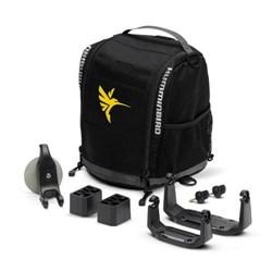 "Product # 740157-1NB <ul> <li>Soft-sided Portable Bag w/ Carry Handle</li> <li>Transducer, Battery, & Charger Storage Compartments</li> <li>Hardware and HELIX 5 & HELIX 7 Gimbal Mounts Included</li> <li>Battery & charger <span class=""redbold"">NOT</span> Included</li> </ul>"