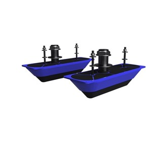 lowrance navico structurescan 3d stainless steel thru hull transducer pair
