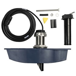 """Product # 000-13284-001 <ul> <li>Thru-Hull Transducer</li> <li>Long Stem Design</li> <li>Operating Frequency 180 kHz</li> <li><span class=""""redbold"""">ForwardScan&trade;</span></li> <li>Configurable Shallow Depth Alarm</li> <li>Easy Auto Ranging</li> </ul> <br />"""