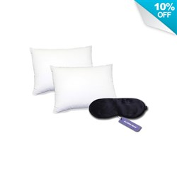 """<ul> <li><span class=""""bluebold"""">Comfortable Beautyrest Pillows</span><br /> - Pima Cotton<br /> - 400 Thread Count</li> <li><span class=""""bluebold"""">Sleep Mask</span><br /> - Gentle, Easy-to-Adjust Headband<br /> - Total Blackout<br /> - For Insomnia, Migraine Headaches & Dry-eye Sufferers<br /> - Suitable for all</li> <li>Adds Luxurious Comfort</li> <li>Complete Your Sleep System</li> </ul>"""