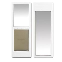 "<ul> <li><span class=""blackbold"">Sliding Glass Pet Door</span></li> <li>Fits Sliding Glass Doors 76-13/16""-81"" Tall</li> <li><span class=""redbold"">Heavy-duty Frame with Tempered Glass</span></li> <li>Fits Left or Right Sliding Glass Doors</li> <li>Flexible Soft Tinted Flap</li> <li>Included 2 Latches Locks Sliding Door</li> </ul>"