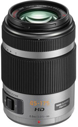 "<ul> <li><span class=""blackbold"">Panasonic Lumix G 45-175mm F4-5.6 ASPH Lens</li> </span></li> <li>Micro Four Thirds System Standard </li> <li><span class=""redbold"">Premium 3.8X Video & Still Optimized Ultra Compact (45-175mm) w/Exclusive Power Zoom Technology</span></li> <li>Video Optimized Power O.I.S</li> <li>2 ED Lens Elements, Compensates For Chromatic Aberration</li> <li><span class-""bluebold"">Premium Extra-low Refractive Index Nano Surface Coating</span></li> <li>Silent Autofocus During Movie Recording</li> </ul>"