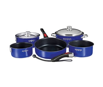 magma nesting 10 piece induction compatible non stick cookware