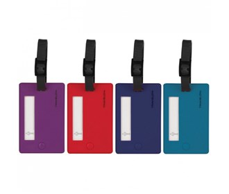 travelon set of 4 assorted color luggage tags bolds