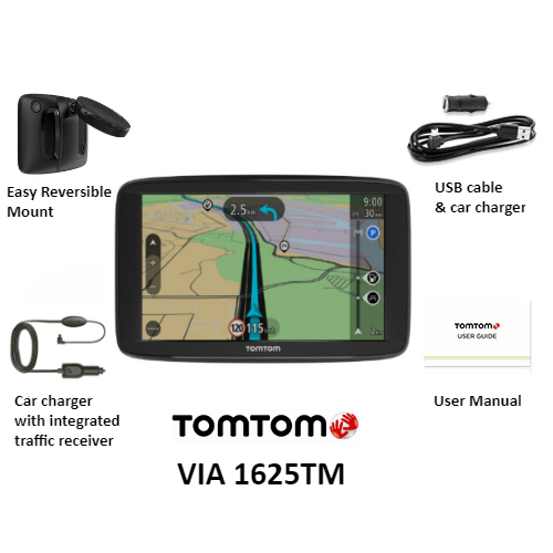 tom tom via1625tm