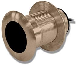 "Product # 010-10182-21 <br/>  <ul> <li>Bronze Thru-Hull Mount Transducer (8-pin)</li> <li><span class=""blackbold"">Provides Depth &amp; Temp Data</span></li> <li>Operating Frequency <span class=""blackbold""> 200 &amp; 50 kHz</span></li> <li>Mounts On 0-7&deg; Deadrise Angle</li> </ul>"