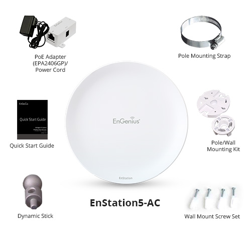 engenius enturbo enstation5 ac long range wireless bridge