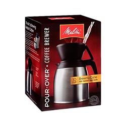 """Item # 64104 <br/> <ul> <li><span class=""""blackbold"""">Pour Over Coffeemaker</span></li> <li>60oz Stainless Steel Carafe</li> <li><span class=""""bluebold"""">Brews 10 Cups of Coffee</span></li> <li>Keeps Coffee Warm For Hours</li> <li>Uses Number 4 Paper Filters</li> <li>Dishwasher Safe</li> <li>BPA Safe</li> </ul>"""