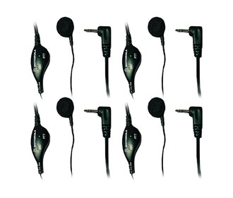 motorola 53727 earbud with push to talk and microphone 4 pack