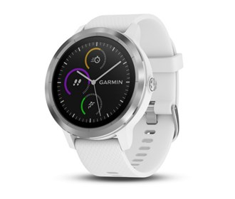 garmin vivoactive 3 white with silver hardware