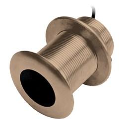 """Product # 000-13921-001 <br /> <br /> <ul> <li><span class=""""blackbold"""">Bronze Thru Hull Transducer</span></li> <li>Hull Type: Fiberglass, Wood</li> <li><span class=""""bluebold"""">300 W RMS</span></li> <li>Frequency Range: 95-155 kHz</li> <li><span class=""""redbold"""">CHIRP Traditional Sonar</span></li> <li>Maximum Depth: 2500 ft.</li> <li>Beam Width: 26&deg; to 17&deg;</li> <li>Provides Depth &amp; Temperature Data</li> </ul>"""