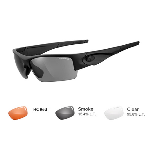 tifosi lore tactical safety sunglasses matte black
