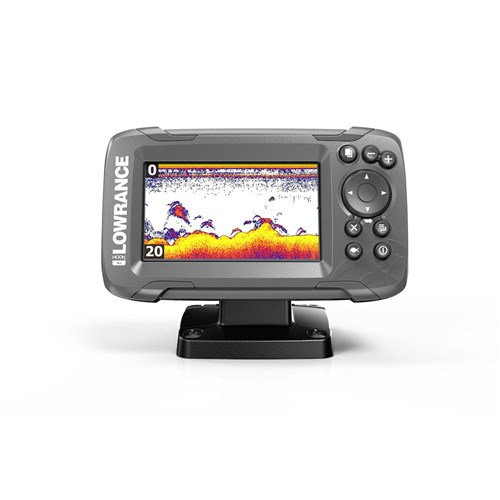lowrance hook 2 4x with bullet skimmer transducer