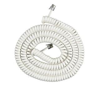 att 25 foot white coil cord