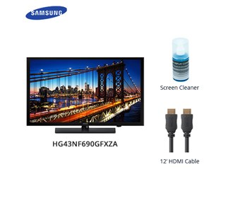 samsung 690 series 43 inch premium direct lit led tv with cable and cleaner